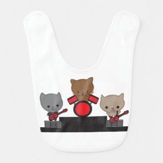 Banda de Kawaii del gato del gatito Baberos De Bebé