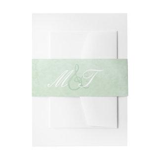 Banda de la acuarela de la verde menta cintas para invitaciones