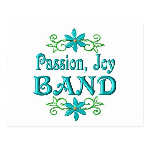 Banda de la alegría de la pasión postales