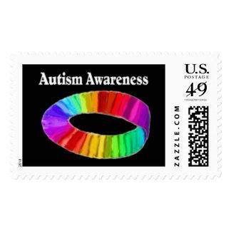 Banda de la conciencia del autismo timbres postales