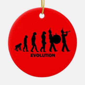 banda de la evolución adorno navideño redondo de cerámica