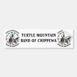 Banda de la montaña de la tortuga de Chippewa Pegatina De Parachoque