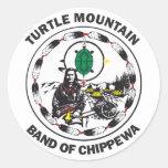 Banda de la montaña de la tortuga de Chippewa Etiquetas Redondas