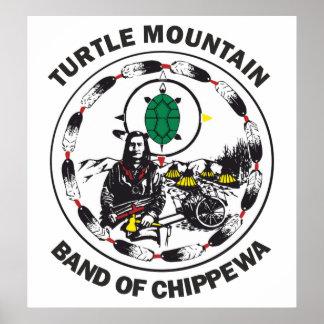 Banda de la montaña de la tortuga de Chippewa Póster