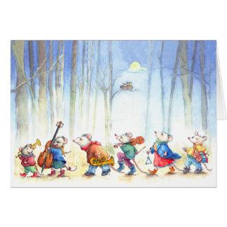 Banda de la música del ratón - tarjeta de felicita