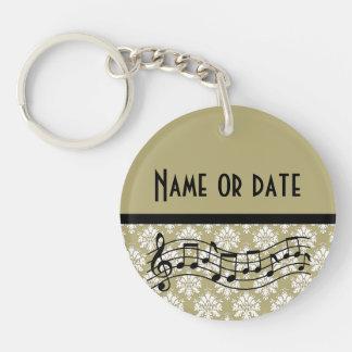 Banda de la música o regalo personalizado coro llavero redondo acrílico a doble cara
