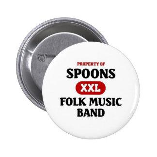 Banda de la música tradicional de las cucharas pin