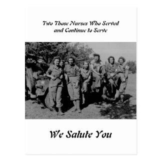 Banda de las hermanas - enfermeras durante WWII Postal