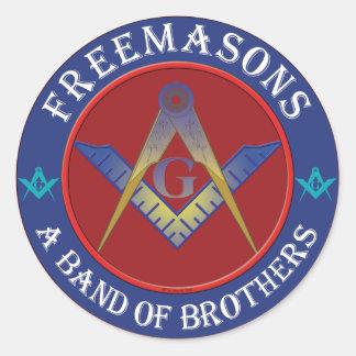 Banda de los Freemasons de hermanos Etiqueta Redonda