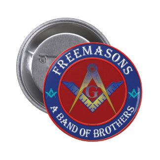 Banda de los Freemasons de hermanos Pin Redondo De 2 Pulgadas