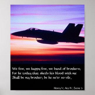 Banda de los hermanos - F-18 Póster