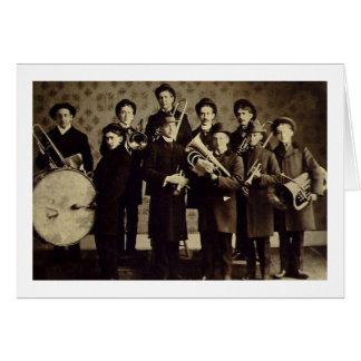 Banda de metales de los muchachos vintage de Vars Tarjetas