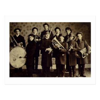 Banda de metales de los muchachos vintage de Vars Tarjeta Postal