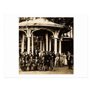Banda de metales en Saratoga Springs, 1860s de Postal