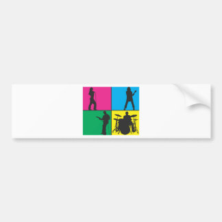 Banda de rock etiqueta de parachoque