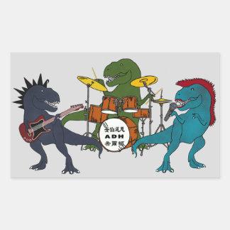 Banda de rock de T-Rex Pegatina Rectangular