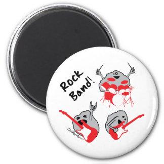 Banda de rock imán redondo 5 cm