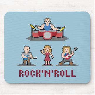 Banda de rock Mousepad del pixel Alfombrilla De Ratón