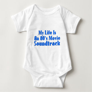 banda de sonido de la película de los años 80 body para bebé