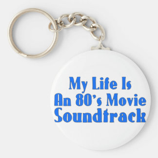 banda de sonido de la película de los años 80 llavero redondo tipo pin