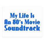 banda de sonido de la película de los años 80 tarjeta postal