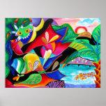 Banda de Taino y de Vejigantes - arte de Galina - Posters