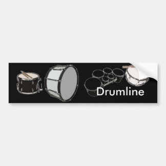 Banda de tambores - banda - Drumline Pegatina Para Auto