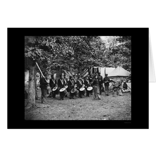 Banda de tambores en Bealeton, VA 1863 Tarjeta