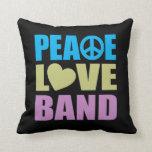 Banda del amor de la paz almohada