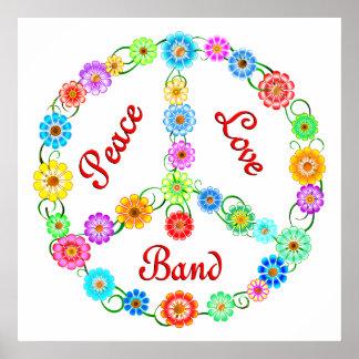 Banda del amor de la paz posters