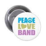Banda del amor de la paz pin