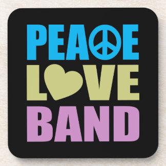 Banda del amor de la paz posavasos