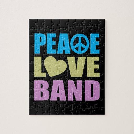 Banda del amor de la paz puzzles