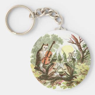 Banda del animal del vintage llaveros personalizados