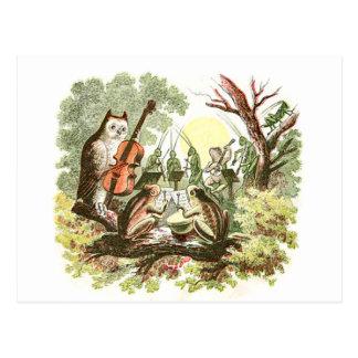Banda del animal del vintage postales
