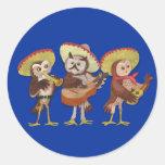 Banda del búho del Mariachi Pegatina Redonda