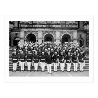 Banda del Cuerpo del Marines, 1900s tempranos Postal