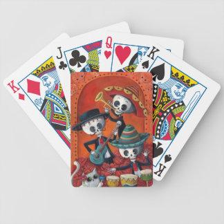 Banda del esqueleto de Dia de Muertos Musical Cartas De Juego