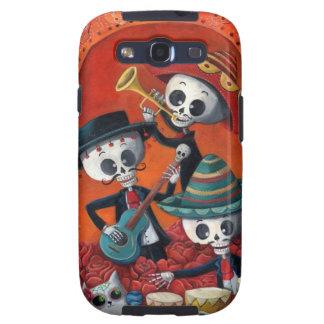Banda del esqueleto de Dia de Muertos Musical Galaxy S3 Cárcasa