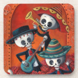 Banda del esqueleto de Dia de Muertos Musical Posavasos De Bebidas