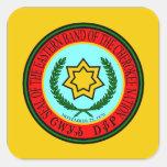 Banda del este del sello cherokee calcomania cuadradas personalizada