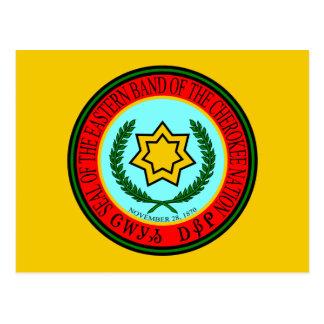 Banda del este del sello cherokee tarjetas postales