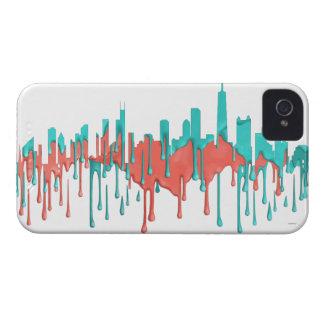 BANDA DEL HORIZONTE DE CHICAGO, ILLINOIS - PB - FUNDA PARA iPhone 4 DE Case-Mate