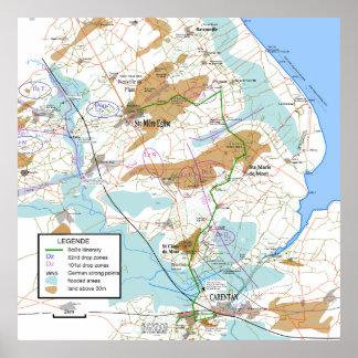 Banda del mapa extendido hermanos los 32x32in impresiones