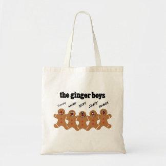 Banda del muchacho del hombre de pan de jengibre bolsa tela barata