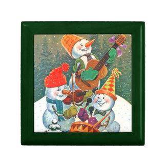 Banda del muñeco de nieve cajas de regalo