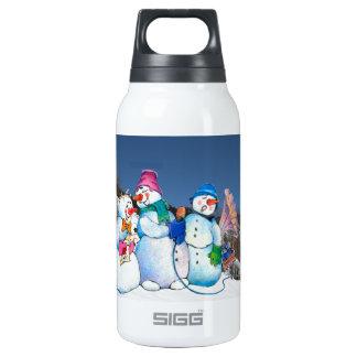Banda del muñeco de nieve que canta en la ladera