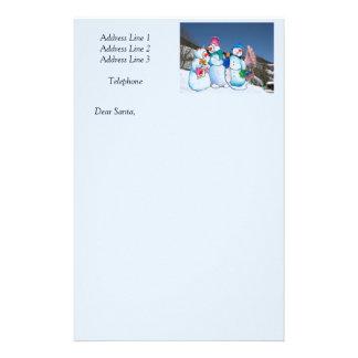 Banda del muñeco de nieve que canta en la ladera papeleria de diseño