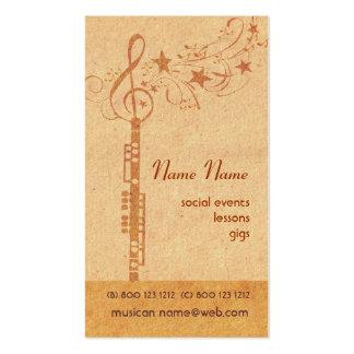 Banda del oboe de la música tarjetas de visita