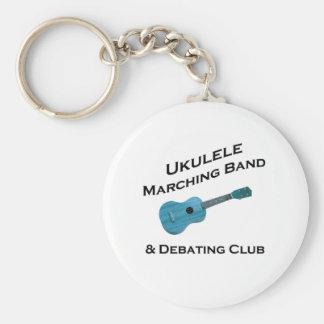 Banda del Ukulele y club de la discusión Llavero Redondo Tipo Pin